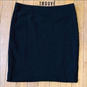 🎀NWOT Trouvé bodycon black mini skirt! Sz S!